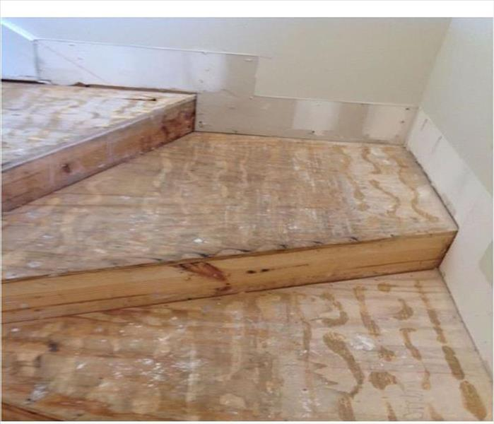 Burnsville Water Damage to a Staircase After